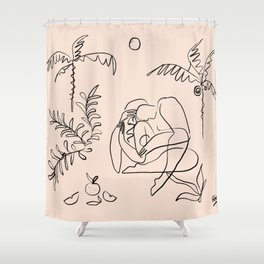 Dreamers no.1 (apricot) Shower Curtain