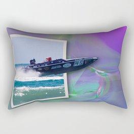 Offshore Addiction Speeds Out Of Frame Rectangular Pillow