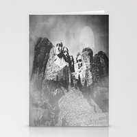 rushmore Stationery Cards featuring Rushmore at Night by Peaky40