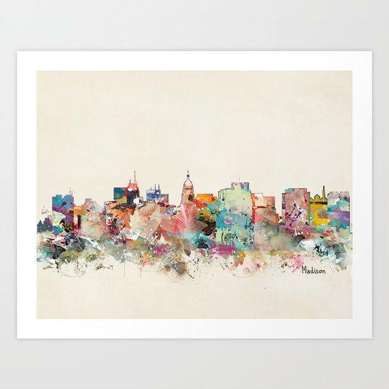 madison wisconsin Art Print