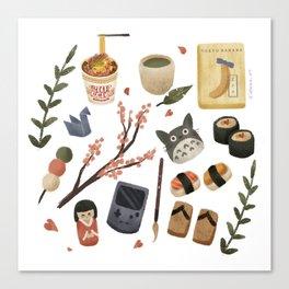 Japan Icons Canvas Print