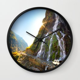 Waterfall Road Trip Wall Clock