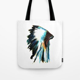 Indian Headdress Native America Illustration Tote Bag