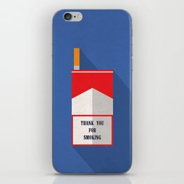 Thank You For Smoking Minimalist iPhone Skin