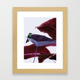 Pink leaf Framed Art Print