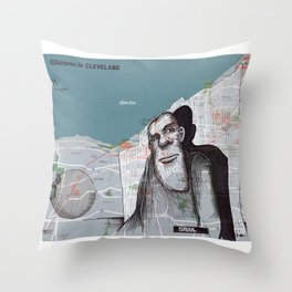 CLEVELAND, OHIO Throw Pillow