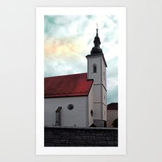 The village church of Waldburg I | architectural photography Art Print