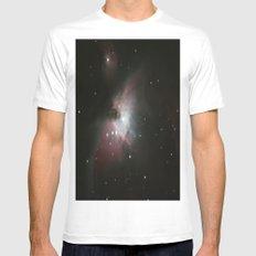 Orion Nebula Mens Fitted Tee White MEDIUM