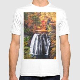 Autumn Waterfall in Nagano, Japan T-shirt