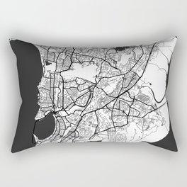 Mumbai Map Gray Rectangular Pillow