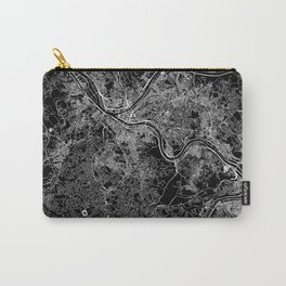 Pittsburgh Black Map Carry-All Pouch