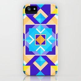 Geometric Tribal Mandala Inspired Modern Trendy Vibrant (Blue, Cobalt, Yellow, Orange, Purple) iPhone Case