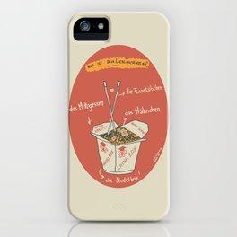 Die Nudelbox iPhone Case
