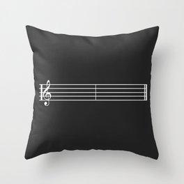 Silence Key Throw Pillow