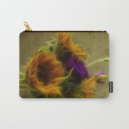 Three sunflowers and a Lisianthus Carry-All Pouch
