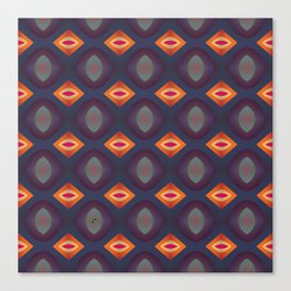 70's Geometric 2 Canvas Print