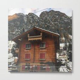 Cabin in Zermatt, Switzerland Metal Print