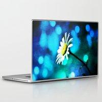malachite Laptop & iPad Skins featuring Azurite Malachite Daisy  by minx267
