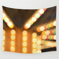 carousel Wall Tapestries featuring Carousel by Julius Marc