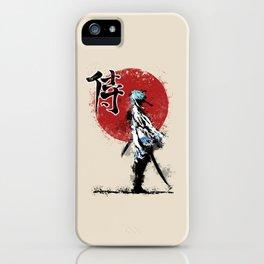 white samurai iPhone Case