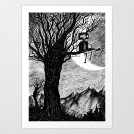 Lonely Robot Art Print