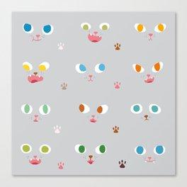 Cat Faces Canvas Print