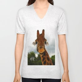 Giraffe. Unisex V-Neck