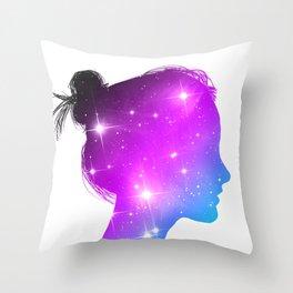 Star Sister / Color 1 Throw Pillow