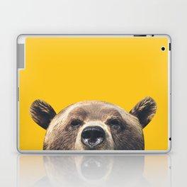 Bear - Yellow Laptop & iPad Skin