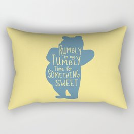 Rumbly in my Tumbly Time for Something Sweet - Pooh inspired Print Rectangular Pillow