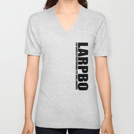 LARPBO Classic Black Unisex V-Neck