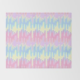 Melty Patterned Slime Throw Blanket