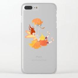 Fall Faerie Clear iPhone Case