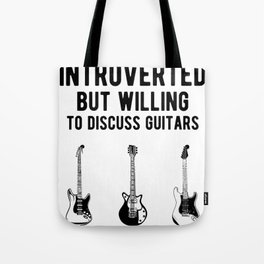 Funny Introverted Bass Guitarist - Guitar Player Tote Bag