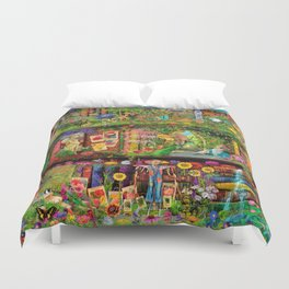 The Secret Garden Book Shelf Duvet Cover