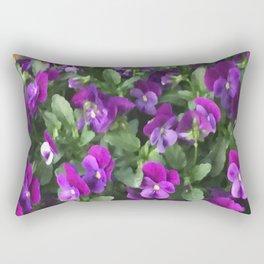 Botanical Florals Zencolor2 Rectangular Pillow