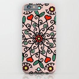 Mandala with hearts | Karina Kamenetzky iPhone Case