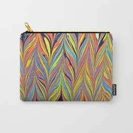 Herring Bone Water Marbling Carry-All Pouch