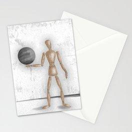 Man With A Globe - Grey  Stationery Cards