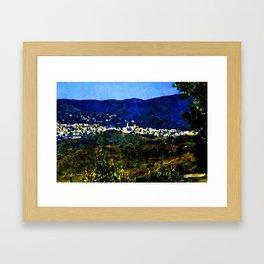 Calabria landscape with Catanzaro city and Sila mountain Framed Art Print