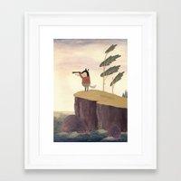 badger Framed Art Prints featuring Badger by Chuck Groenink