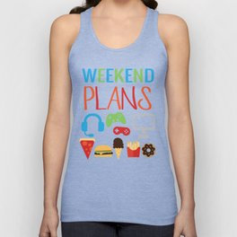 Video Game Party Snack Pattern Unisex Tank Top