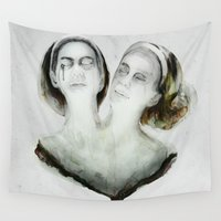 ahs Wall Tapestries featuring Bette and Dot Tattler by beart24