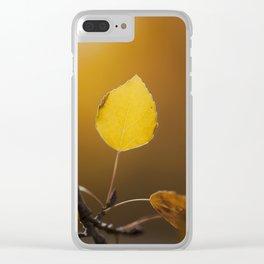 Golden Aspen Clear iPhone Case