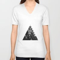 three of the possessed V-neck T-shirts featuring three by Adrián Peñalver