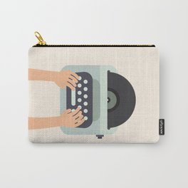 Vinyl Typewriter Carry-All Pouch