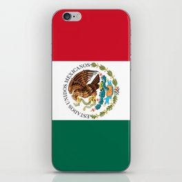 Flag of Mexico - alt version with seal insert iPhone Skin