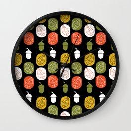 Acorns & Leaves Fall Design Wall Clock