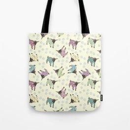 Pajama'd Baby Goats - Yellow Tote Bag