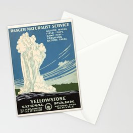 WPA vintage Travel poster - Yellowstone National Park - Ranger Naturalist Service Stationery Cards